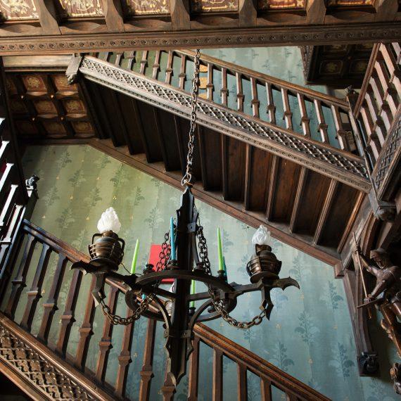 Escalier du chateau du bois de la lune